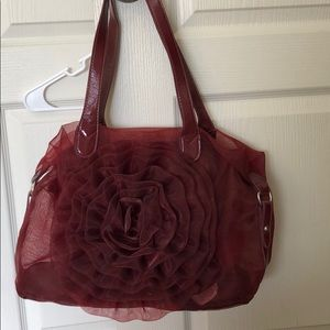 Handbags - Burgundy nylon purse